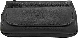 Brigham Vintage Black Leather Combo Pouch