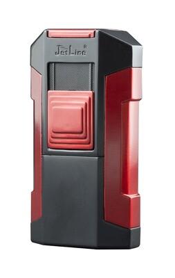 Jetline Avalanche Quad Torch Table Cigar Lighter Red