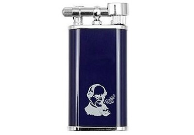 Peterson Pipe Lighter Thinking Man Blue