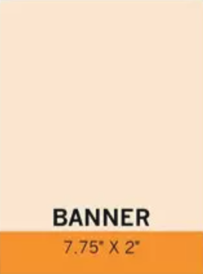 Banner 7.75' x 2'