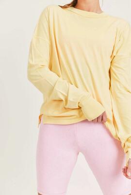 Spring Yellow Long Sleeve W/ Thumb Holes