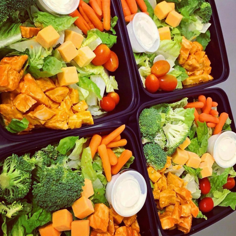 Buffalo Chicken Garden Salad