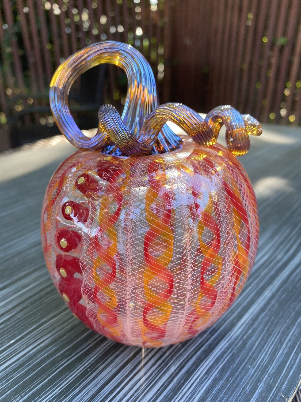 Bobby Bowes Glass Cane Pumpkin 301-528