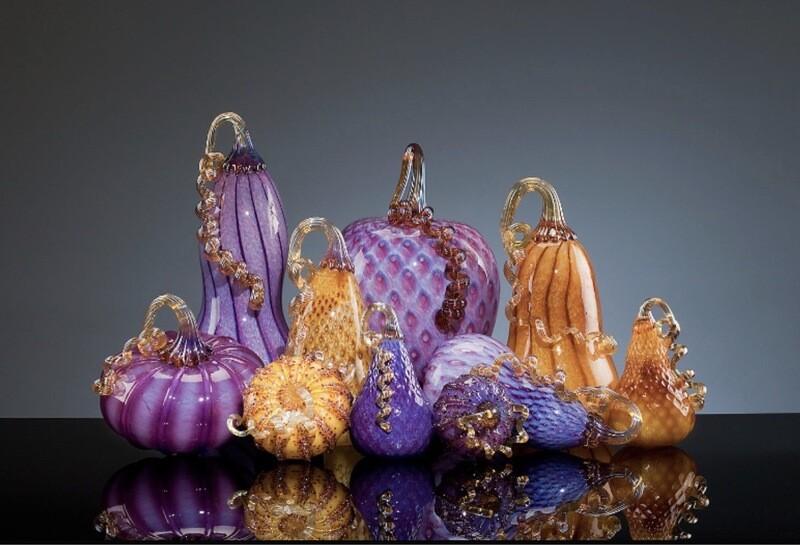 Purple Pumpkin Set Walker&Bowes