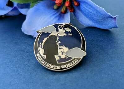 """""""Words Birth Worlds"""" Charm (FREE with book purchase-No need to add to Cart)"""