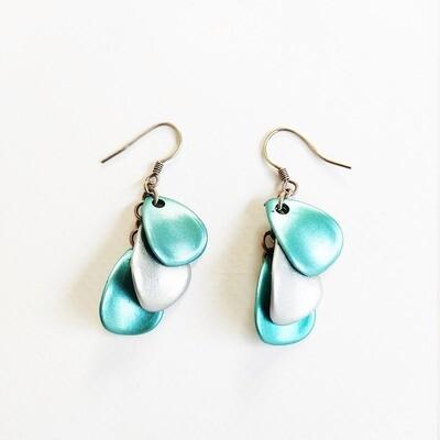 Boucle d oreille turquoise pendante bijou en argent