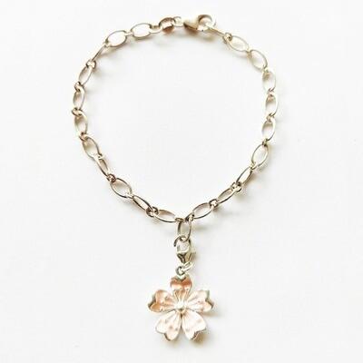 Bracelet argent 925 femme charm mousqueton