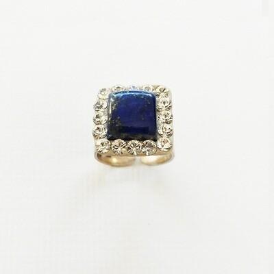 Bague argent lapis lazuli bijou en pierre naturelle