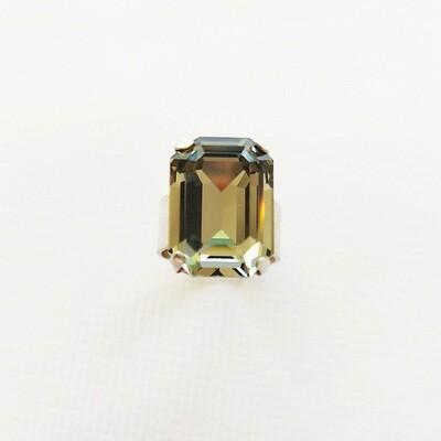 Bague réglable argent femme bijou cristal swarovski