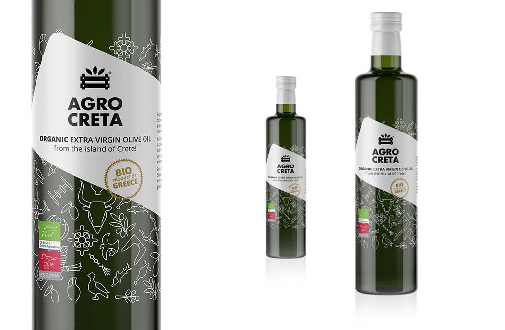 AGRO CRETA Organic Extra Virgin Olive Oil (BIO) 500 ml.