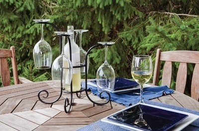 Wine Bottle & Glasses Caddy