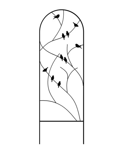 Perching Birds Trellis - Black