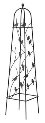 Perching Birds Obelisk - Black