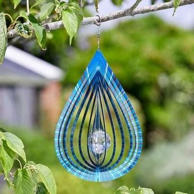 Crystal Teardrop Spinner - Azure