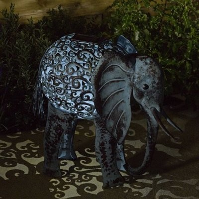 Solar Silhouette Elephant