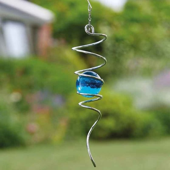 Blue Spinning Helix 33cm