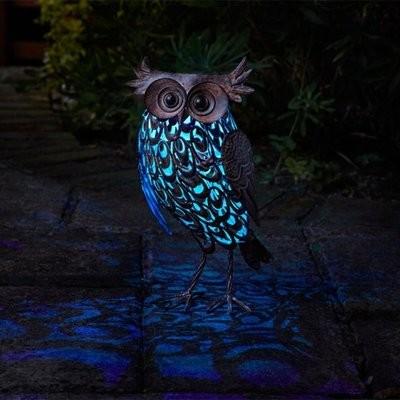 Solar Silhouette Giant Owl