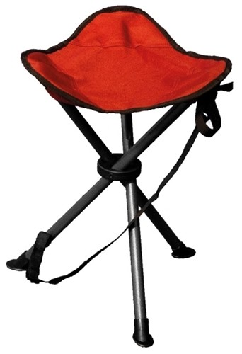 Autograph Devon stool and foot rest in paprika and cream