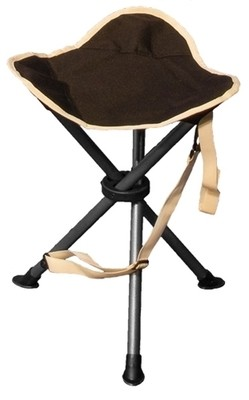 Autograph Devon stool and foot rest in black and grey