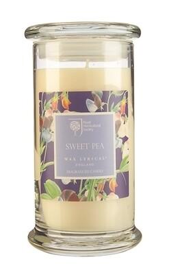Sweet Pea Candle Jar