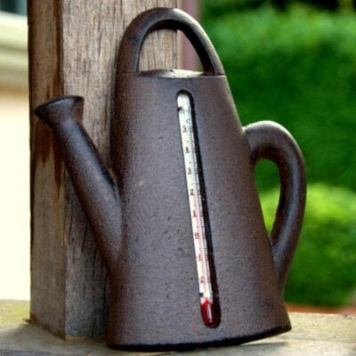 Thermometer - Watering Can - Cast Iron