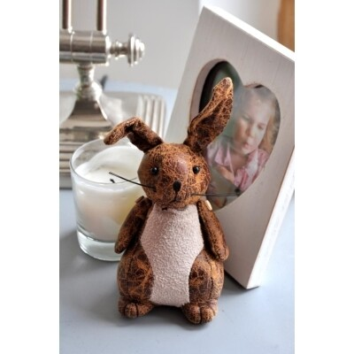 Paperweight - Faux Leather - Rabbit