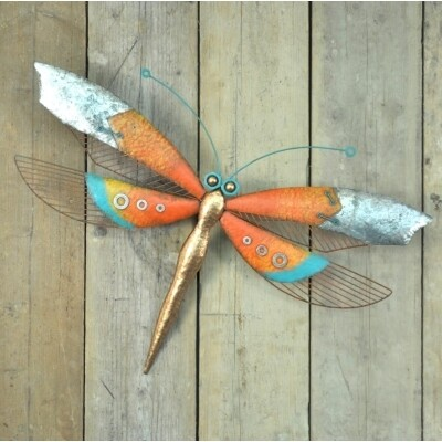 Decorative Wall Art - Orange Dragonfly