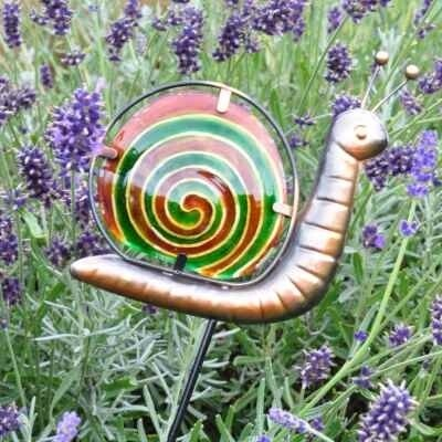 Garden Pot Stake  - Green Snail