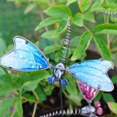 Azure Dragonfly Garden Pot Stake