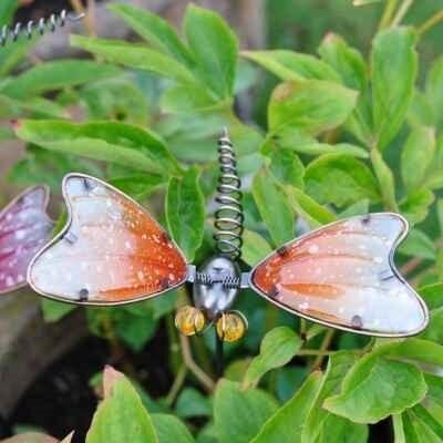 Amber Dragonfly Garden Pot Stake
