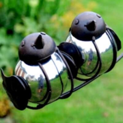 Garden Stake Balancing Sitting Birds