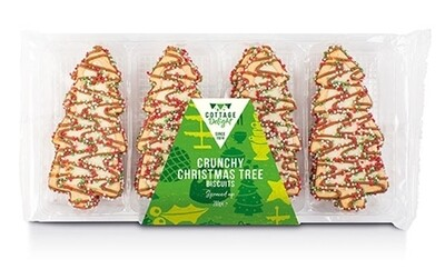 Crunchy Christmas Tree Biscuits