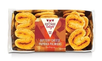 Buttery Cheese Paprika Palmiers