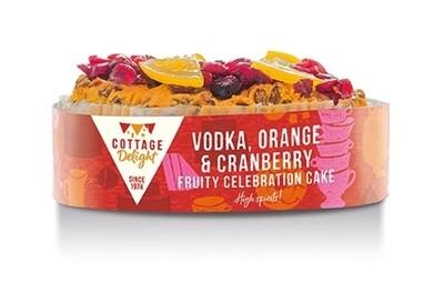 Vodka, Orange & Cranberry Fruity Celebration Cake
