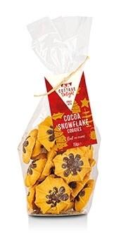 Cocoa Snowflake Cookies