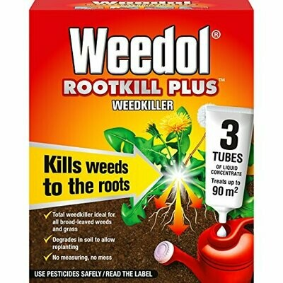 Weedol Rootkill Plus Liquid Concentrate Tubes (3 Tubes)