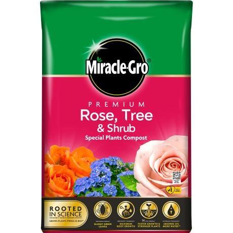 Miracle-Gro Premium Rose, Tree and Shrub compost 40L