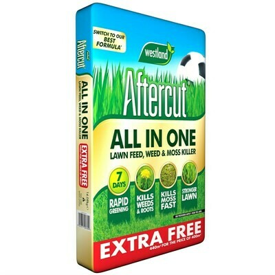 Aftercut All In One Lawn Feed, Weed & Moss Killer 440m sq