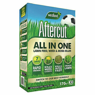 Aftercut All In One Lawn Feed, Weed & Moss Killer 170m sq
