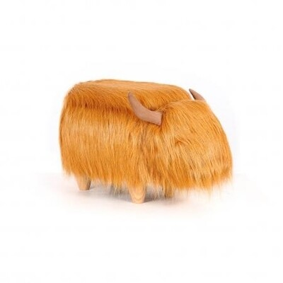 Animal footstool - Hairy Cow