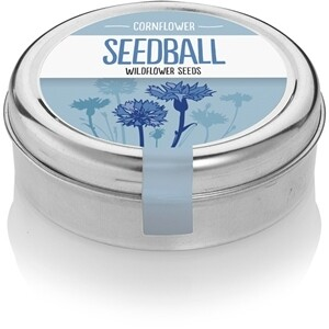 Seedball Cornflower tin