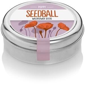 Seedball Poppy tin