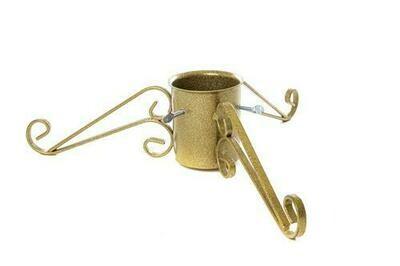 13cm Ornate Xmas Tree Stand - Gold