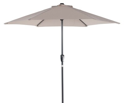 Powder Coated 3.0m Round Crank Parasol - Sand