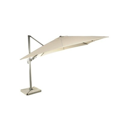 Lichfield 2.7 x 2.7m Square Side Post Parasol including Sand Protective Cover - Sand