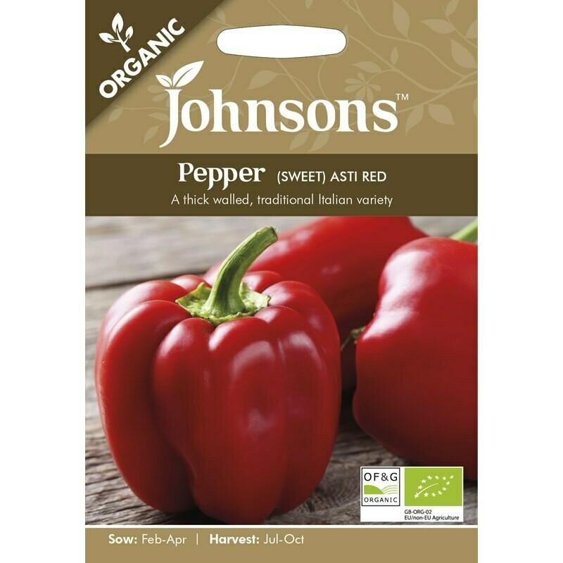 Pepper (Sweet) Asti Red (org)