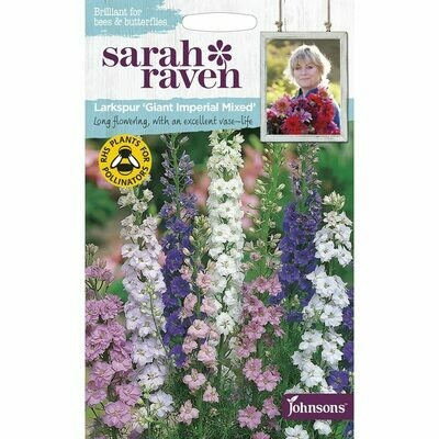 Sarah Raven Larkspur Giant Imperial Mixed