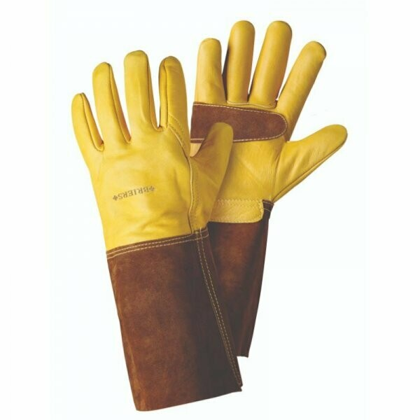 Ultimate Golden Leather Gauntlets - Large