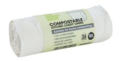 Plain Top Compostable Caddy Liner (24)
