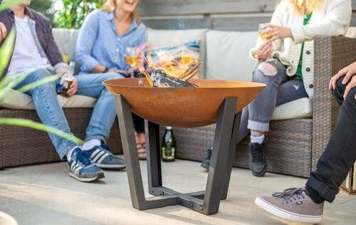 Icarus Medium Firepit and stand